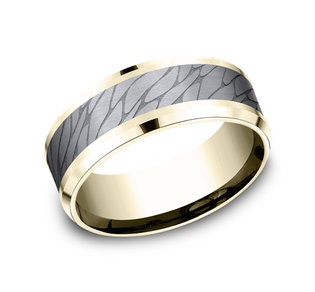 8MM YELLOW GOLD DESIGN BAND CF948815GTAY - 8MM YELLOW GOLD DESIGN BAND  CF948815GTAY