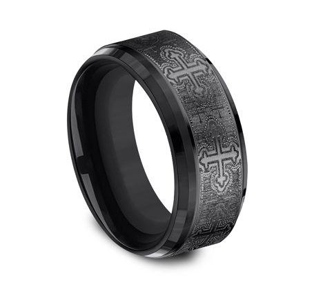 9MM BLACK TITANIUM BAND CF69100BKT 1 - 9MM BLACK TITANIUM BAND CF69100BKT