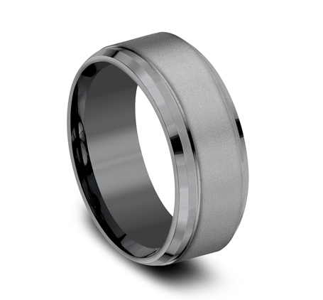 9MM COMFORT FIT AND POWDER COATED FINISH TANTALUM BAND CF69486TA 1 - 9MM COMFORT-FIT AND POWDER COATED FINISH TANTALUM BAND CF69486TA