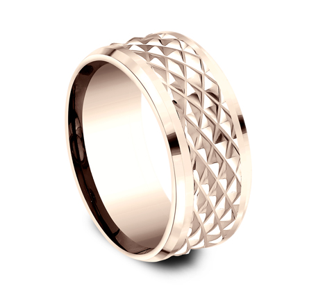 9MM ROSE GOLD DESIGN BAND CF409679R 1 - 9MM ROSE GOLD DESIGN BAND CF409679R