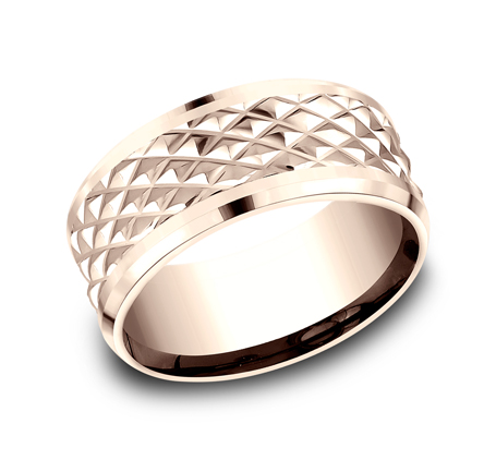 9MM ROSE GOLD DESIGN BAND CF409679R - 9MM ROSE GOLD DESIGN BAND CF409679R