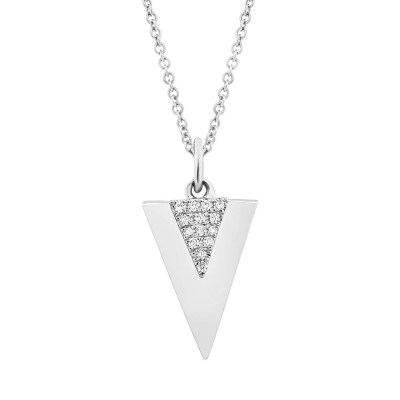 0.03ct 14k White Gold Diamond Triangle Pendant SC55002943 - 0.03ct 14k White Gold Diamond Triangle Pendant SC55002943