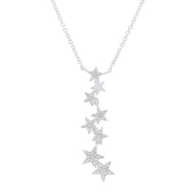 0.11ct 14k White Gold Diamond Star Pendant SC55006066 - 0.11ct 14k White Gold Diamond Star Pendant SC55006066