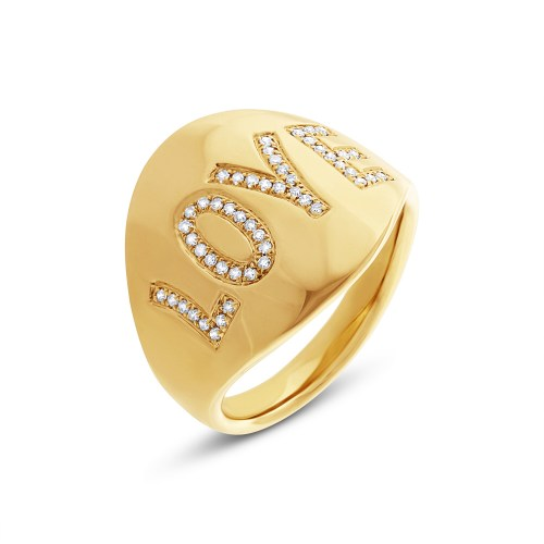 "0.14ct 14k Yellow Gold Diamond Love Ring SC55001936 - 0.14ct 14k Yellow Gold Diamond ""Love"" Ring SC55001936"