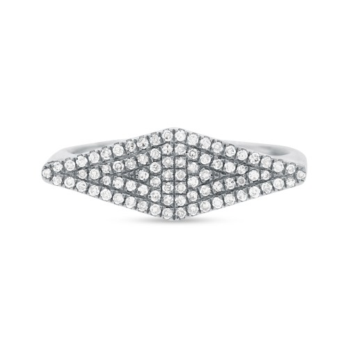 0.25CT 14K White Gold Diamond Pave Ladys Ring SC55001362 1 - 0.25CT 14K White Gold Diamond Pave Lady's Ring SC55001362