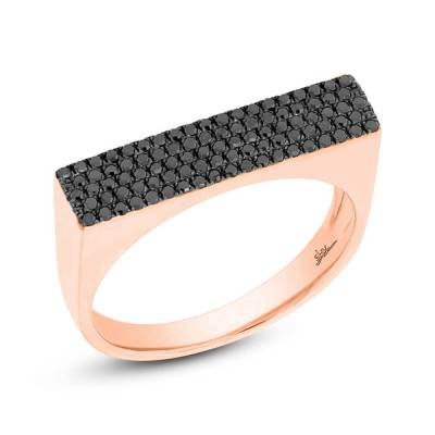 0.30ct 14k Rose Gold Black Diamond Pave Ladys Ring SC55001778 - 0.30ct 14k Rose Gold Black Diamond Pave Lady's Ring SC55001778