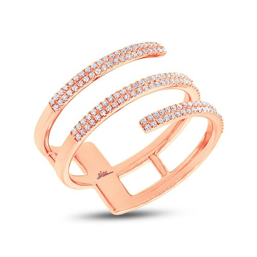 0.30ct 14k Rose Gold Diamond Ladys Ring SC55002412 - 0.30ct 14k Rose Gold Diamond Lady's Ring SC55002412
