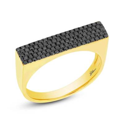 0.30ct 14k Yellow Gold Black Diamond Pave Ladys Ring SC55001873 - 0.30ct 14k Yellow Gold Black Diamond Pave Lady's Ring SC55001873
