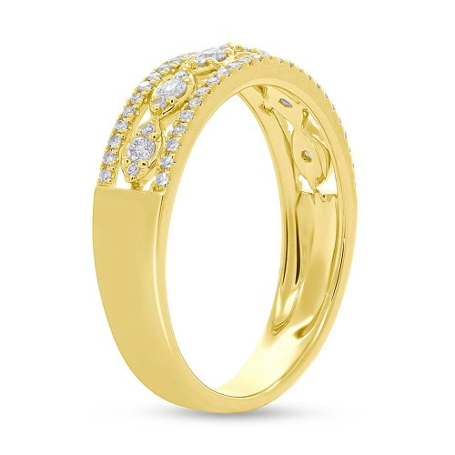 0.31ct 14k Yellow Gold Diamond Ladys Ring SC55005603 2 - 0.31ct 14k Yellow Gold Diamond Lady's Ring SC55005603
