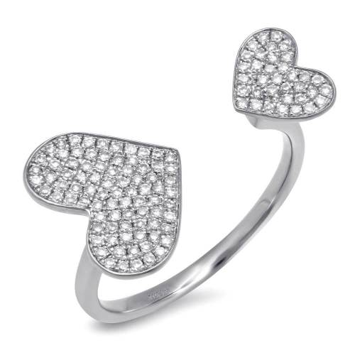 0.33ct 14k White Gold Diamond Pave Heart Ring SC55001180 - 0.33ct 14k White Gold Diamond Pave Heart Ring SC55001180