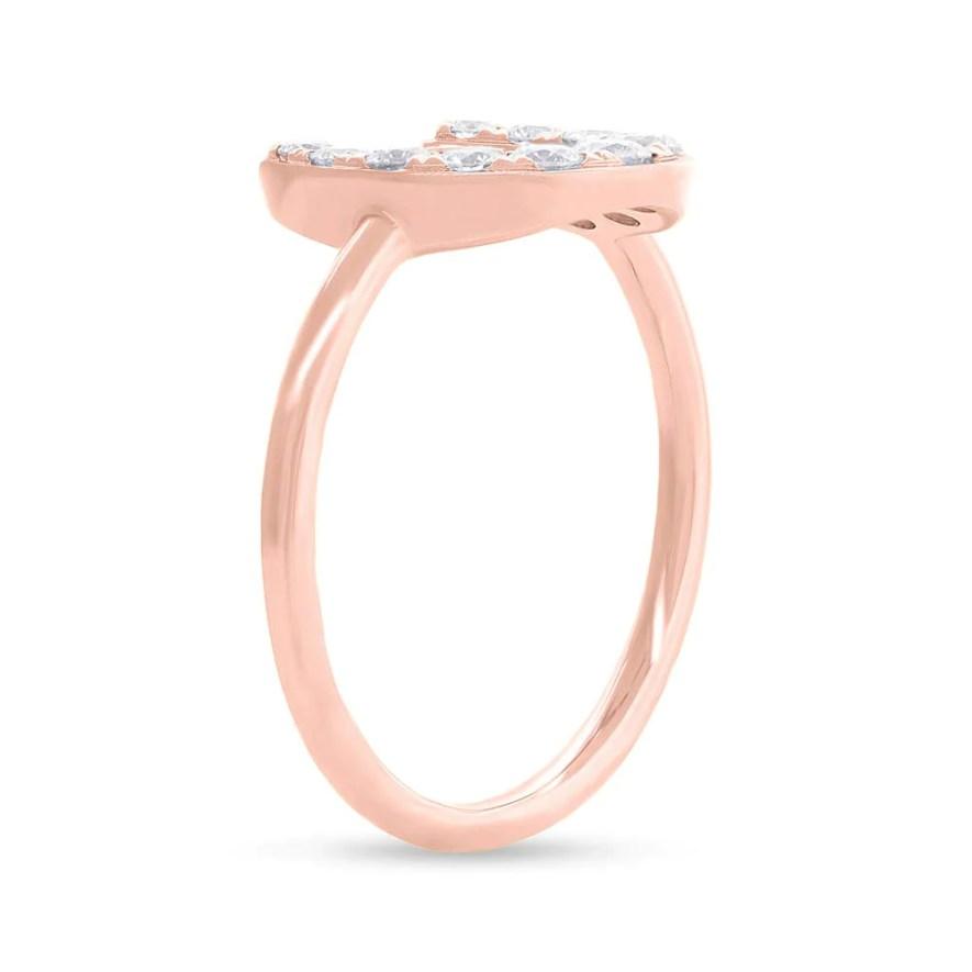 0.36ct 14k Rose Gold Diamond Horseshoe Ring SC55006266 2 - Gold Engagement Rings: Classic and Timeless Bova