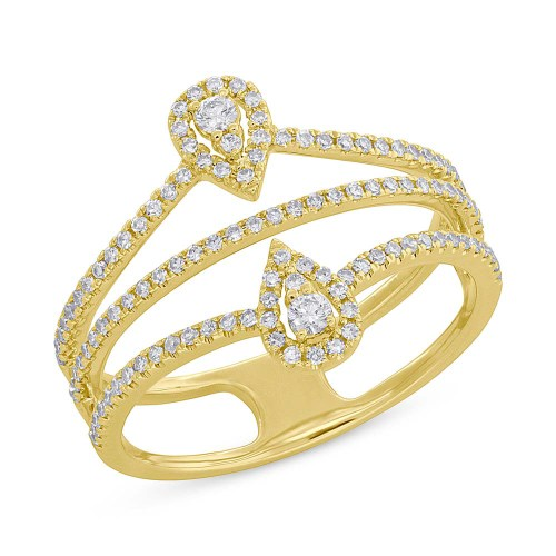 0.37ct 14k Yellow Gold Diamond Ladys Ring SC55005411 - 0.37ct 14k Yellow Gold Diamond Lady's Ring SC55005411