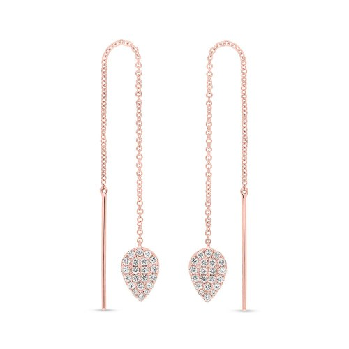 0.43ct 14k Rose Gold Diamond Threader Earring SC55005848 - 0.43ct 14k Rose Gold Diamond Threader Earring SC55005848