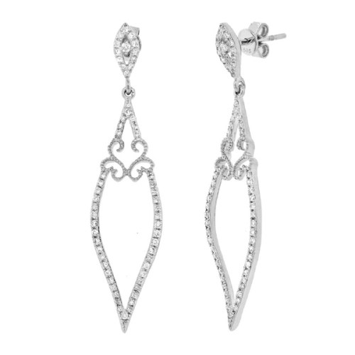 0.44ct 14k White Gold Diamond Earring SC36213055 - 0.44ct 14k White Gold Diamond Earring SC36213055