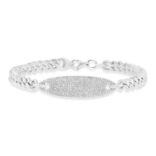 0.56ct 14k White Gold Diamond Pave Chain Bracelet SC55003511 - 0.56ct 14k White Gold Diamond Pave Chain Bracelet SC55003511