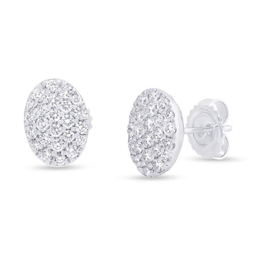 0.76ct 14k White Gold Diamond Pave Oval Earring SC22004731 - 0.76ct 14k White Gold Diamond Pave Oval Earring SC22004731