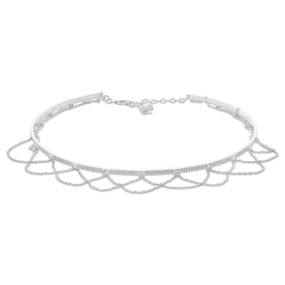 0.77ct 14k White Gold Diamond Choker Necklace SC55005025 - 0.77ct 14k White Gold Diamond Choker Necklace SC55005025
