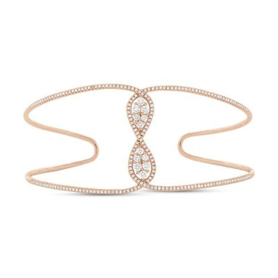 0.81ct 14k Rose Gold Diamond Bangle SC55004415ZS - 0.81ct 14k Rose Gold Diamond Bangle SC55004415ZS