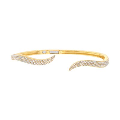 0.84ct 14k Yellow Gold Diamond Pave Bangle SC55002866ZXS - 0.84ct 14k Yellow Gold Diamond Pave Bangle SC55002866ZXS