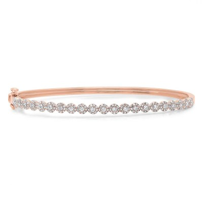 0.89ct 14k Rose Gold Diamond Bangle SC55004303ZS - 0.89ct 14k Rose Gold Diamond Bangle SC55004303ZS