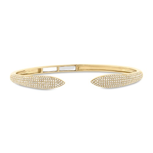 1.08ct 14k Yellow Gold Diamond Claw Bangle SC55001910 - 1.08ct 14k Yellow Gold Diamond Claw Bangle SC55001910