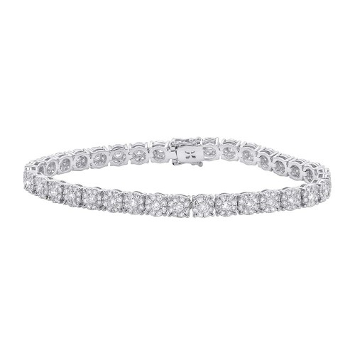 4.43ct 18k White Gold Diamond Ladys Bracelet SC37215097 - 4.43ct 18k White Gold Diamond Lady's Bracelet SC37215097