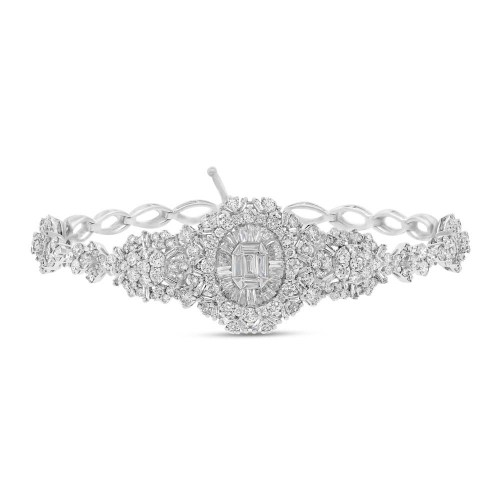 4.59ct 18k White Gold Diamond Bracelet SC37215273 1 - 4.59ct 18k White Gold Diamond Bracelet SC37215273