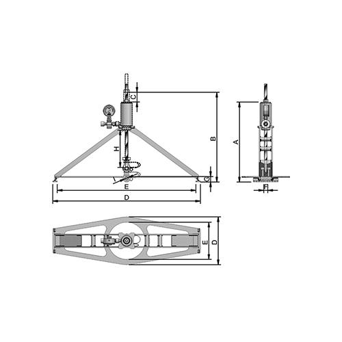 3Cilindro Hidráulico Para Teste de Ancoragem