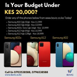 Smartphones under 20k www.bovic.co.ke