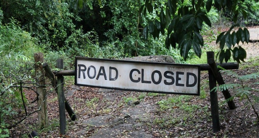 stuck in a rut - roadblock