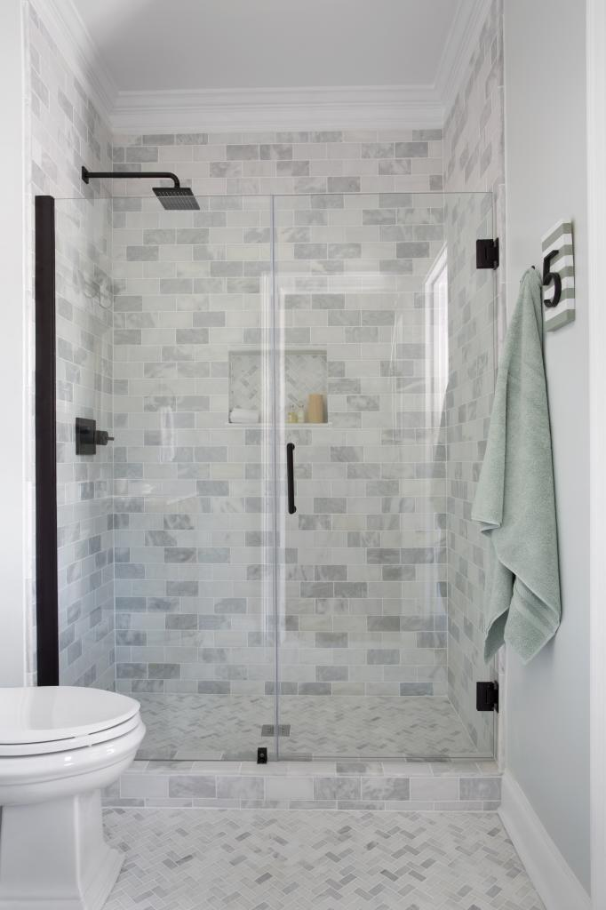 bathroom painting shower door and a