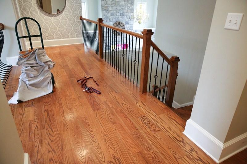 How We Refinished Our Hardwood Floors Bower Power   Matching Stairs To Hardwood Floors   Laminate Flooring   Refinishing Hardwood   Stain   Staircase   Wide Plank