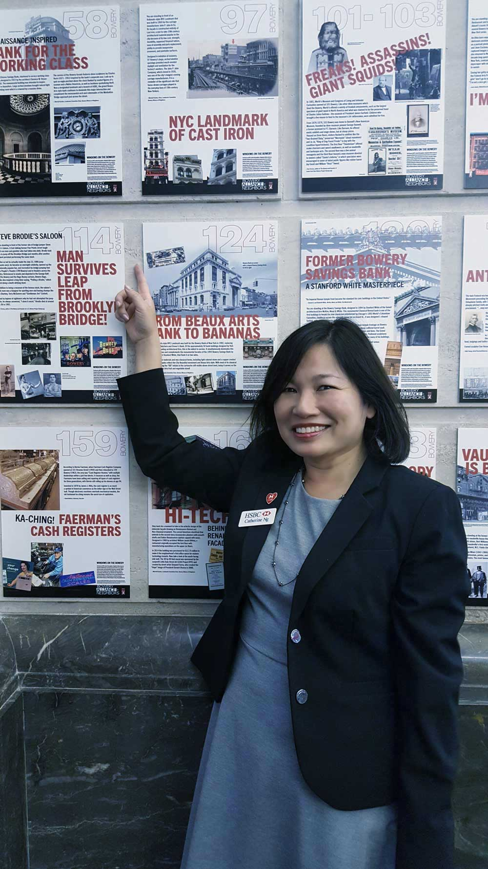 58Bowery-HSBC-Bank-Branch-Manager-Catherine-Ng-with-full-exhibition