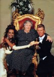 David Bowie and Iman with his mother Peggy, 6 June 1992