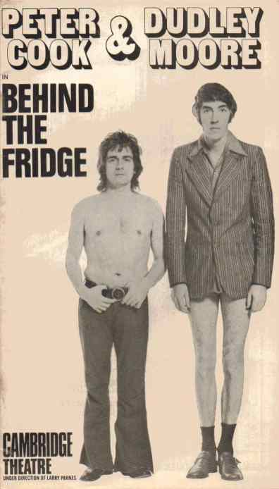 Peter Cook and Dudley Moore in Behind The Fridge