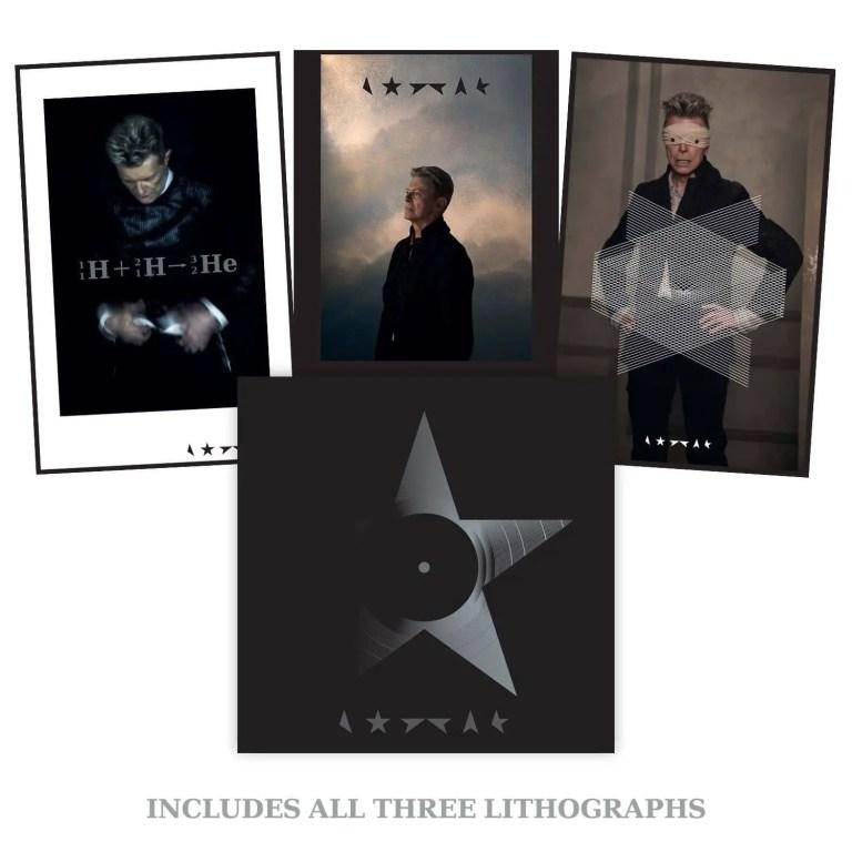 David Bowie –Blackstar clear vinyl bundle with three lithographs