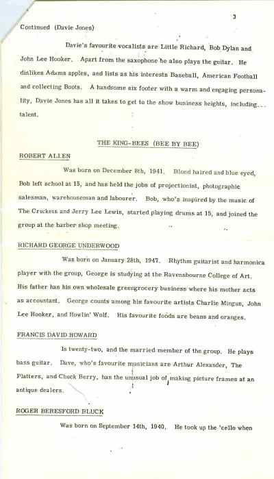 Press release for Liza Jane, June 1964 – part three