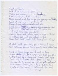 David Bowie's handwritten lyrics to Golden Years