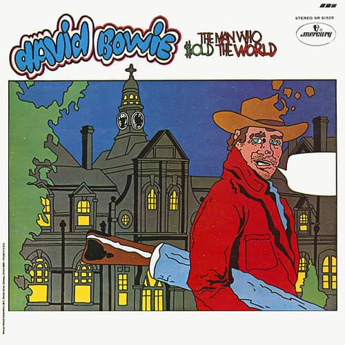 The Man Who Sold The World –cartoon cover artwork