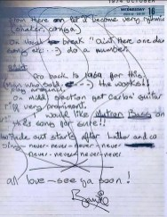 David Bowie's mixing notes for Young Americans