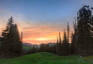 Sunset in Alta, UT
