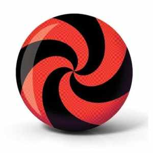 Brunswick Spiral Viz A Ball Bowling Ball- Red/Black (12lbs) by Brunswick Bowling Products