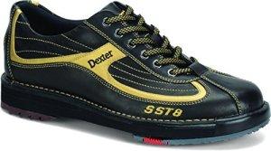 Dexter sST 8 chaussures de bowling pour homme noir/doré en cuir véritable Noir Noir/Or US 13 (45.5)