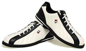 3G Kicks Chaussures de bowling, pour homme et femme, pour droitiers et gauchers, en 4couleurs, taille 36-48, blanc/noir, 41 (US 8.5)