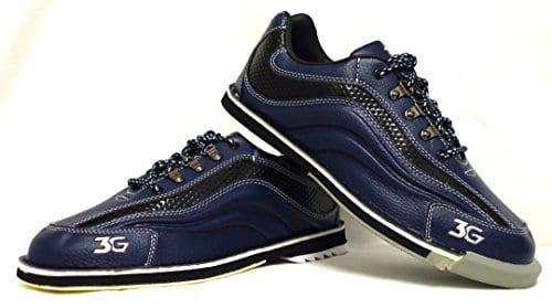 3G Sport Ultra Chaussures de bowling en cuir véritable, Homme et Femme Chaussures, pour droitiers et gauchers, Paragraphe, beaucoup de changement de couleurs disponibles, Professionnel, Semelle de changement de chaussures et accessoires, noir/bleu, bleu/noir