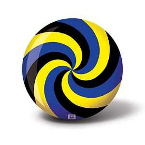 Brunswick Spiral Boule Bowling, Mixte Adulte, Bleu/Noir/Jaune, 12