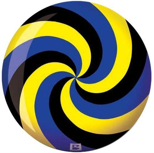 Brunswick spirale VIZ une boule de bowling Ball- Noir/bleu/jaune