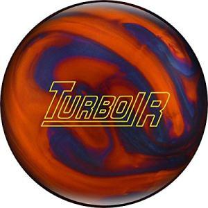Ebonite Turbo/R – Orange/Bleu, Surface polie, Boule de Bowling réactive pour débutants et Joueurs de Tournoi – avec nettoyant de Balle EMAX 100 ML, 12 LBS