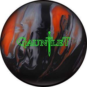 Marteau de clôture Orange/Noir/Argent avec Surface Hybride, Boule de Bowling réactive pour débutants et Joueurs de Tournoi – avec nettoyant de Balle EMAX 100 ML, 15 LBS