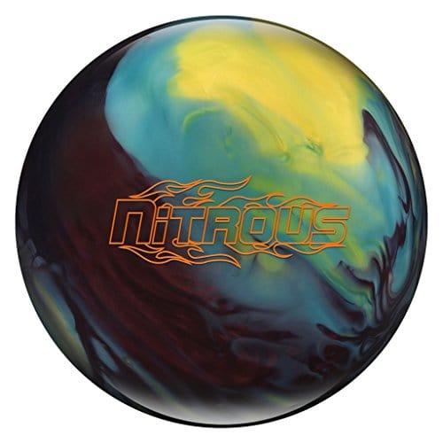 Columbia 300 Nitrous Bowling Ball Black Cherry/Yellow/Blue, 16lbs